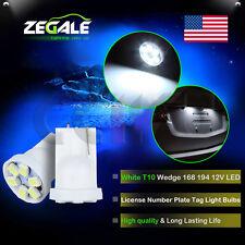 2X White T10 2825 921 168 194 e 3020 6MD LED For Ford License Plate Light Bulbs