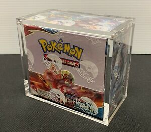Pokemon Acrylic booster box display case Clear Thick Magnetic Closure