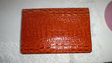 Vintage Lacoste Wallet Croc Congo Orange Tan Leather Case Wallet Organiser