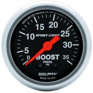 Auto Meter Sport-comp Boost Gauge 3304 0-35 Psi