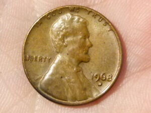 U.S.A. 1968 D LINCOLN MEMORIAL 1c One Cent Coin #V52