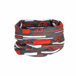 Marc Marquez #93 MotoGP Snood Neckwarmer Bandana - Grey - Licensed Merchandise