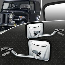FOR 60-75 JEEP CJ6 CJ3 CJ5 PAIR OE STYLE MANUAL ADJUSTMENT SIDE VIEW DOOR MIRROR