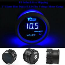 "US 2"" 52mm Blue Digital LED Elec Volt Voltage Meter Gauge Boat Car AUTO 0~15V"