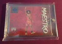 Coby White Rookie /25 Maestro 2019-20 Panini Court Kings #23 RC Sapphire