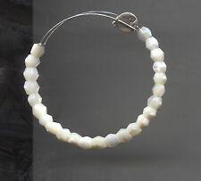 ALEX & ANI silver white bead bracelet 2