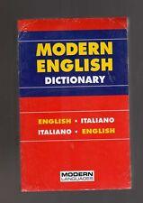 Modern English dictionary - english/italiano - italiano/english -