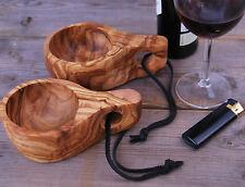 KUKSA Camping Becher Tasse Holztasse Weinbecher Holzbecher Trinkgefäß Olivenholz