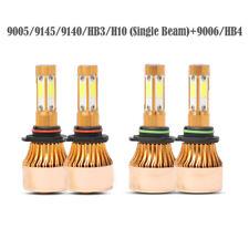 4 Pcs 9005/9145/9140/HB3/H10 (Single Beam)+9006/HB4 LED Headlight Hi-Lo Beam Kit