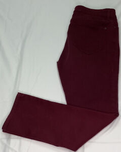 NYDJ Legging Size 14 Maroon Not Your Daughters Jeans Soft Stretchy Lift and Tuck