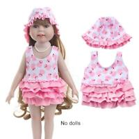 """Latest Handmade Doll swimsuit  setFits 18""""Inch American Girl Doll Clothes"""