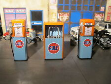 Zapfsäule Tanksäule Gulf Gas Pump Öl Kabinett Tankstelle Diorama Zubehör 1/18