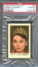 1965 Dutch Gum Card Set HB #34 AUDREY HEPBURN Actress PSA 10 GEM MINT
