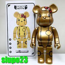 Medicom 1000% Bearbrick ~ Action City Hello Kitty Be@rbrick Robot Kitty Gold Ver