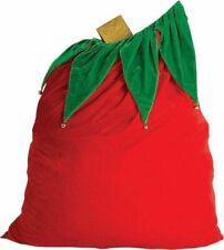 Rubies Velvet Santa Bag Sack w/ Bells Adult Christmas Costume Accessory 26504