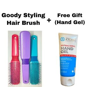 GOODY STYLING HAIR BRUSH 21CMS MIXED COLOUR (CODE H) & FREE GIFT #