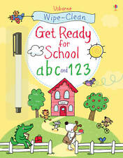 Usborne Wipe - Clean Get Ready For School ABC and 123