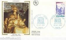 1982**ENVELOPPE SOIE**FDC 1°JOUR**UNESCO-TOMBEAU KHAI-DINH**TIMBRE Y/T 71
