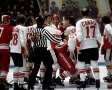 Brawl Team Canada 1972 Summit Series Game Auction 8x10 Photo