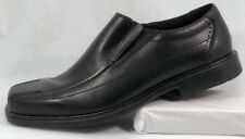 Clarks Mens Black Leather Bicycle Toe Loafer Slip On Casual Shoes Size 11M