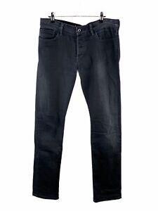Lee Stovepipe L1 Denim Jeans Men Sze 34 Blue Stretch Pockets Button Close Casual