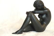frau,akt,schwarz,13x10cm,figur,,erotik,modell25,frauenakt,Nude woman,