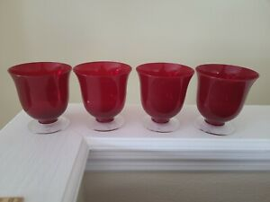 Lenox Holiday Vogue Red White Wine Glasses Set of Four 8 oz