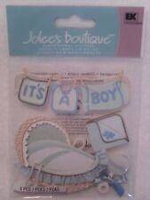 Jolee's 4 pc  Dimensional stickers - BOY CLOTHES LINE