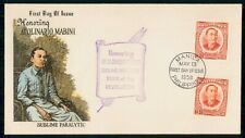 Mayfairstamps Philippines 1959 Apolinario Mabini Sublime Paralytic first Day Cov