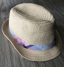 NWT GYMBOREE Banded Summer Easter Straw Fedora Hat Size Size 2T-3T