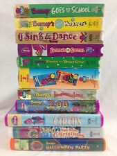 Barney VHS Lot Imagination Island Rhymes Mother Goose Halloween Party 12 Tapes