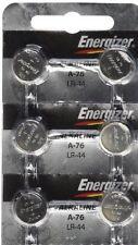 6 FRESH Energizer A76 LR44 AG13 L1154 G13 V13GA Alkaline Button Batteries