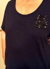 Sequinned Pocket Dressy T-Shirt. Plus size US 22-24 (UK 26-28)