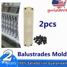2 Piece/Set Moulds Balustrades Mold for Concrete Plaster Cement  PVC TOP
