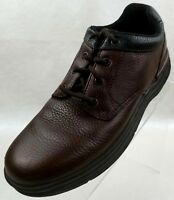 Rockport Derby Brown Pebbled Leather Lace Up Mens Shoes Size EU 42.5 US 9