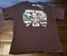 Black Super Bowl LII Philadelphia/New England Size L T-Shirt, Fanatics, Cotton