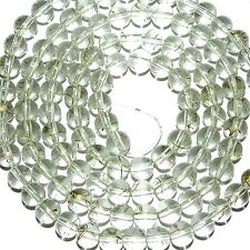 G4021 Crystal w Gold Drizzle Metallic Drawbench 8mm Round Glass Beads 32""