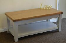 Rectangle Wood Less than 60cm Coffee Tables with Shelves