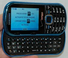 Samsung Intensity II Cell Phone Verizon SCH-U460 Blue slider keyboard qwerty -A-