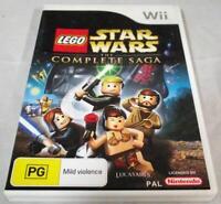 Lego Star Wars The Complete Saga Nintendo Wii PAL *Complete* Wii U Compatible