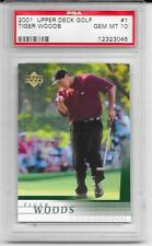 Tiger Woods 2001 Upper Deck UD #1 Rookie Card rC PSA 10 Gem Mint QUANTITY