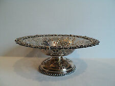 19th C. Old Sheffield Plate (OSP) Silver Plate Tazza / Compote, Pierced Design