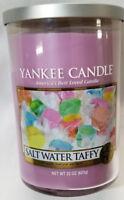 Yankee Candle SALT WATER TAFFY  Large 2-Wick Tumbler Jar Lavender 22 oz Wax