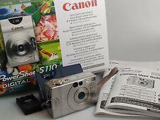 Canon PowerShot Digital ELPH S110 / Digital IXUS V 2.0MP Digital Camera - Silver