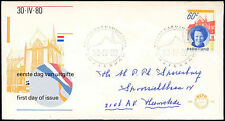 Netherlands 1980, 60c Queen Beatrix Installation FDC First Day Cover #C27700