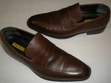 PERRY ELLIS  LEATHER LOAFERS  US 12  UNIQUE MUST HAVE