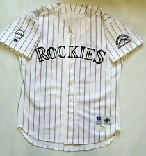 Vintage 1996 Colorado Rockies Eric Anthony Game Worn Jersey with COA