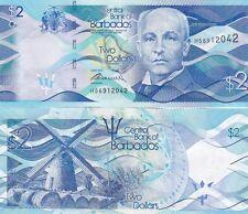 Barbados banconota 2 dollari mai circolata