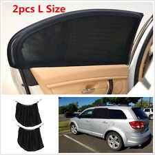 2pcs L Size Car Side Rear Window Sun Visor Shade Mesh Cover Shield UV Protector