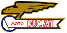 "#k104 4"" Ducati Meccanica Moto Racing Classic Vintage Decal Sticker LAMINATED"